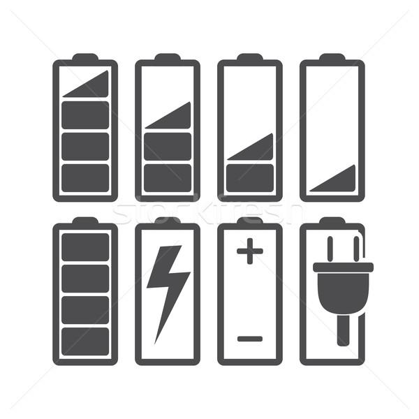 バッテリー セット レベル デザイン 技術 にログイン ストックフォト © smoki