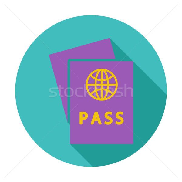 Pasaporte color icono negocios papel signo Foto stock © smoki