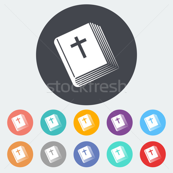 Bible single icon. Stock photo © smoki