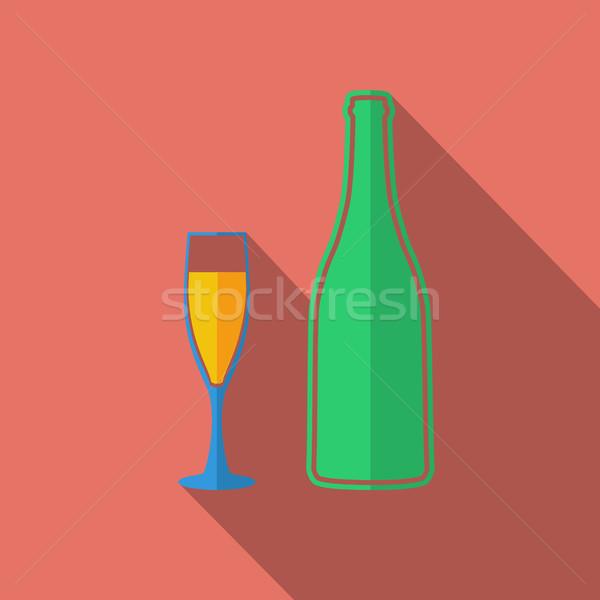 Wine icon Stock photo © smoki