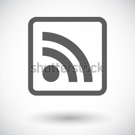 Rss flat icon. Stock photo © smoki