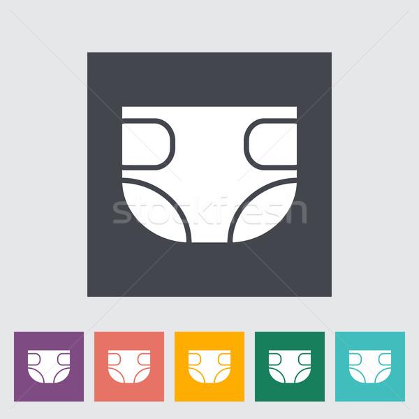 подгузник икона вектора веб мобильных применения Сток-фото © smoki