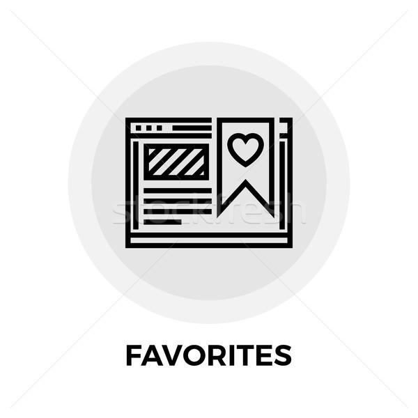 Ulubione line ikona wektora odizolowany biały Zdjęcia stock © smoki