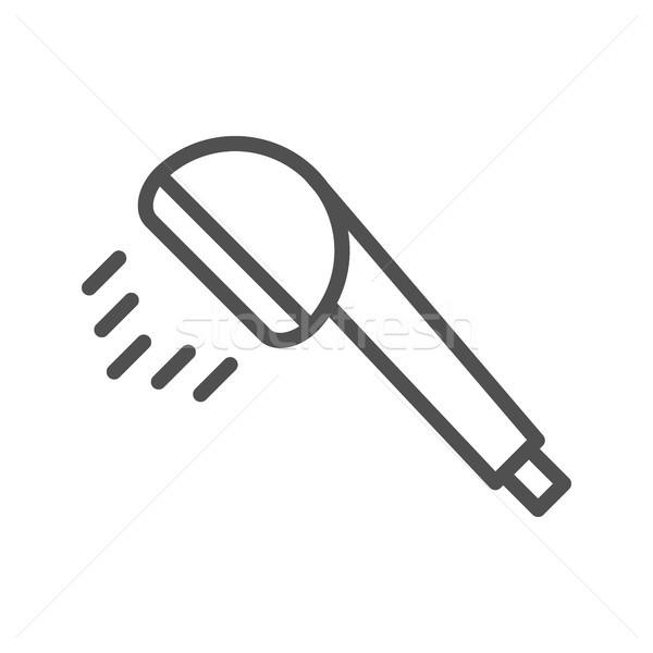 Shower line icon Stock photo © smoki