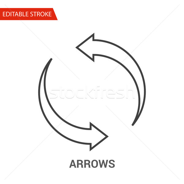 Arrows Icon. Thin Line Vector Illustration Stock photo © smoki