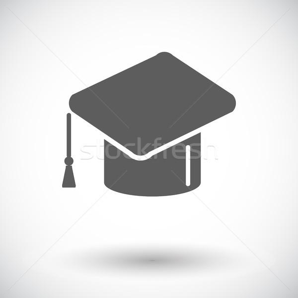 Educação ícone branco papel escolas pintura Foto stock © smoki