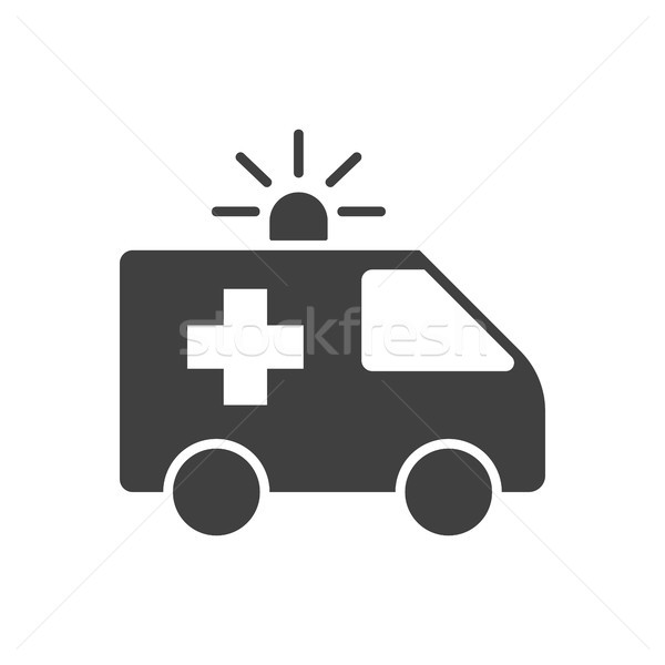 Ambulance auto vector icon geïsoleerd witte Stockfoto © smoki