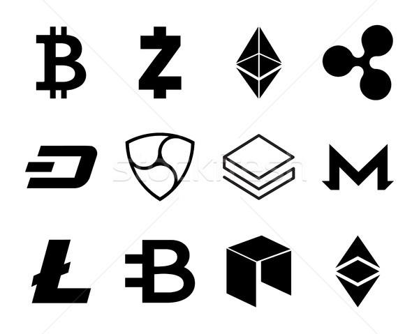 Cryptocurrency Logo Set. Stock photo © smoki
