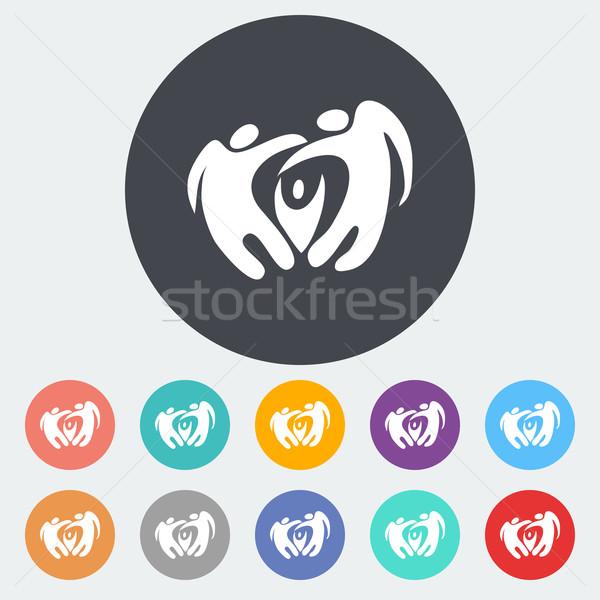 Stockfoto: Elegante · abstract · familie · icon · cirkel · baby