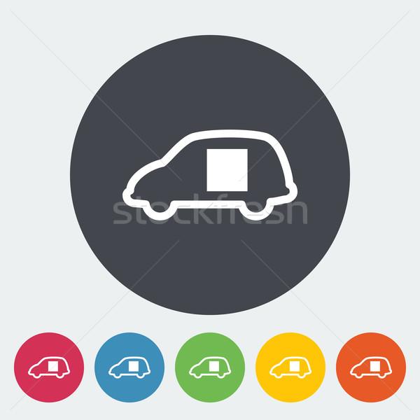 автомобилей двери икона круга аннотация дизайна Сток-фото © smoki