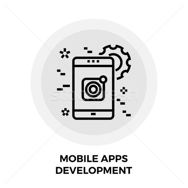 Mobile Apps Development Line Icon Stock photo © smoki