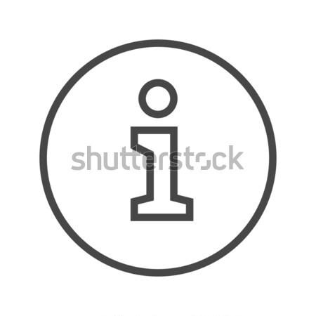 Information Sign Thin Line Vector Icon. Stock photo © smoki