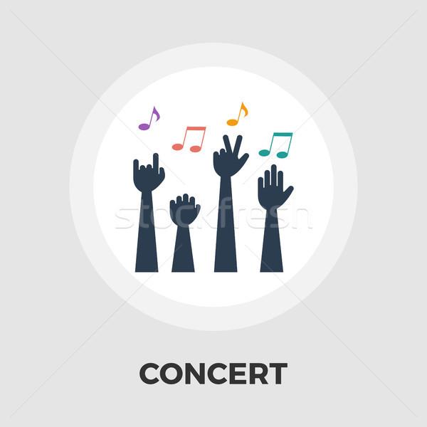 Stok fotoğraf: Konser · ikon · vektör · yalıtılmış · beyaz · düzenlenebilir
