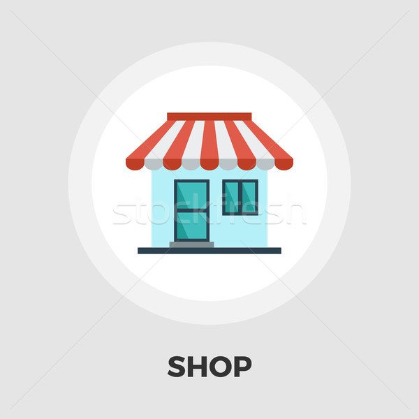 Store icon flat Stock photo © smoki