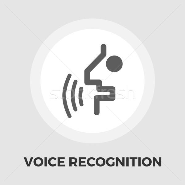 Voice recognition icon flat Stock photo © smoki
