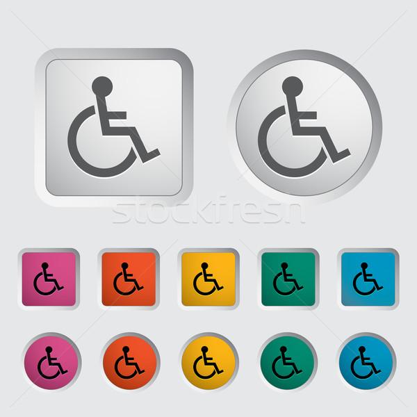 Disabled single icon. Stock photo © smoki