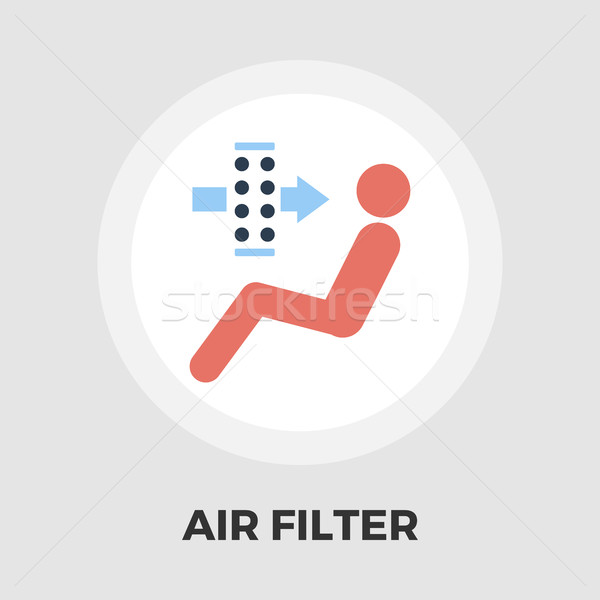 Stock photo: Air filter flat icon