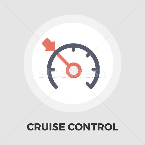 Croisière contrôle icône vecteur isolé blanche Photo stock © smoki