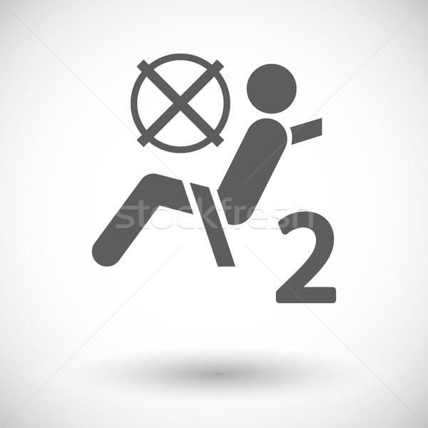 Sitz Gürtel Symbol weiß auto Gefahr Stock foto © smoki