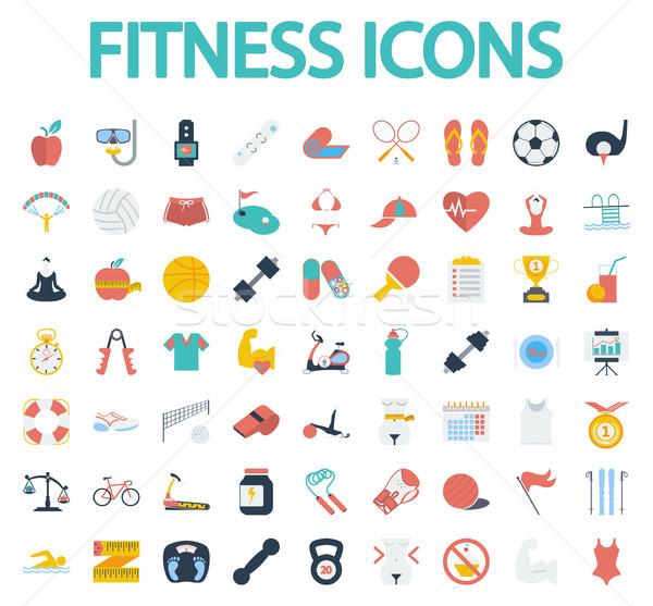 Foto stock: Fitness · iconos · largo · sombra · sitio · web