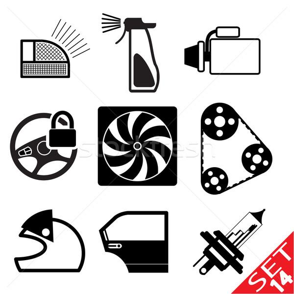 Autó ikon gyűjtemény 14 eps8 terv felirat Stock fotó © smoki