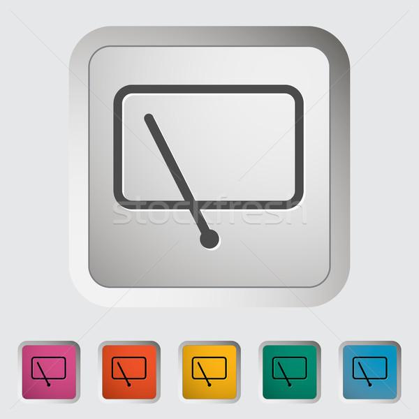 Car icon wiper. Stock photo © smoki