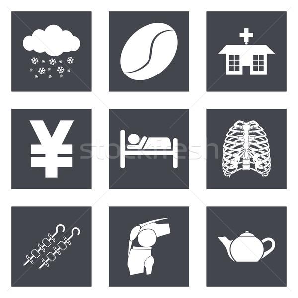 Icons for Web Design and Mobile Applications set 7 Stock photo © smoki