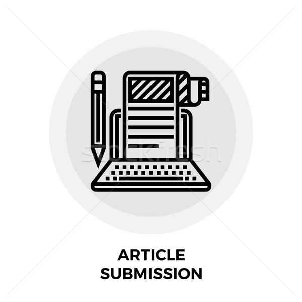 Article Submission Icon Stock photo © smoki