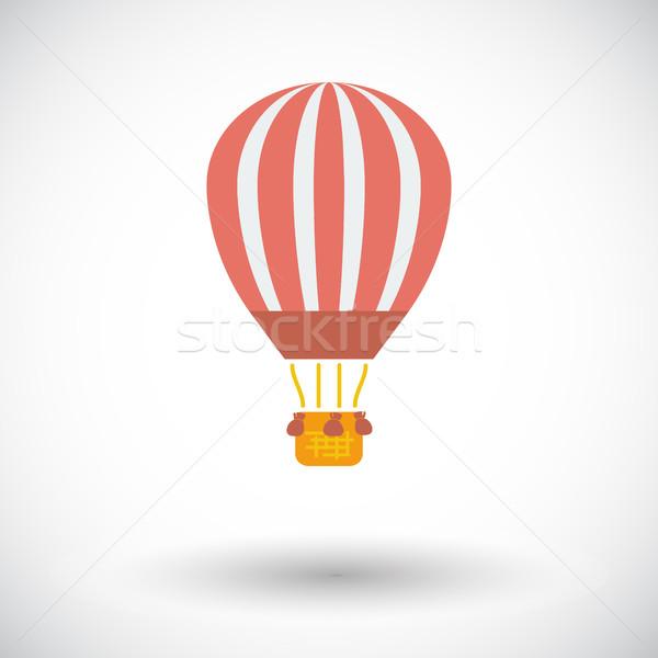 Globo icono blanco cielo deporte luz Foto stock © smoki