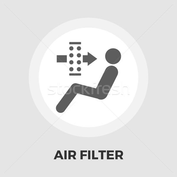 Stok fotoğraf: Hava · filtre · ikon · vektör · yalıtılmış · beyaz