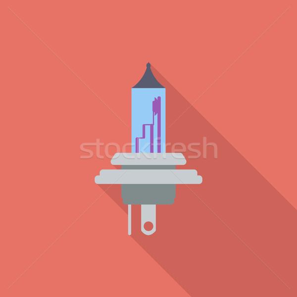 Xénon voiture lampe icône vecteur longtemps Photo stock © smoki