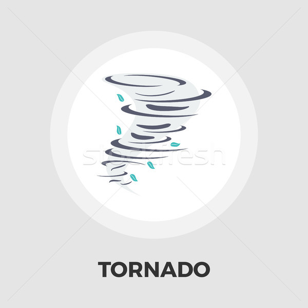 Tornado icon flat Stock photo © smoki
