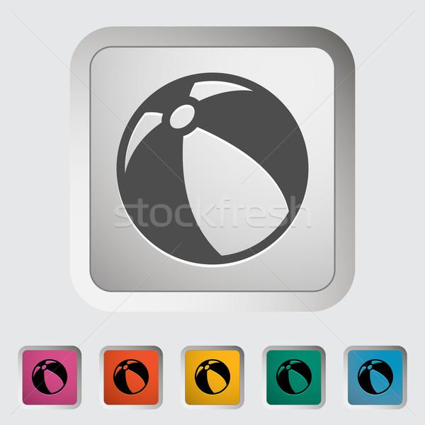 Strandlabda sport művészet labda játék játék Stock fotó © smoki