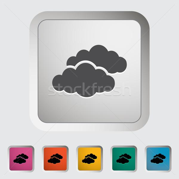 Overcast single icon. Stock photo © smoki