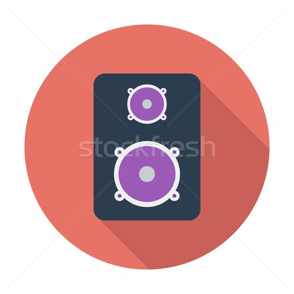 Konuşmacı renk ikon dans siluet medya Stok fotoğraf © smoki