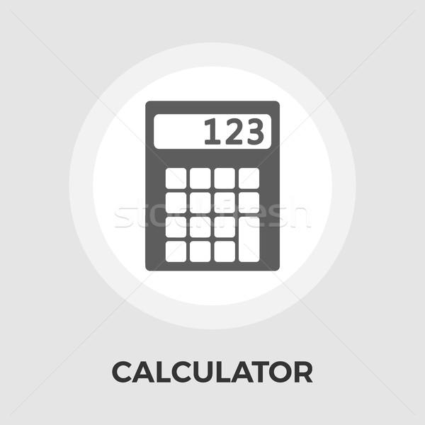 Kalkulator wektora ikona odizolowany biały Zdjęcia stock © smoki