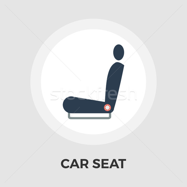 Car seat flat icon Stock photo © smoki