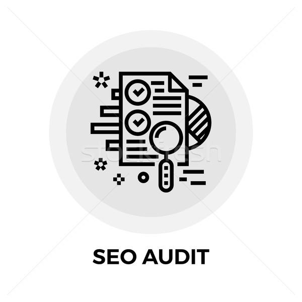 Stock photo: SEO Audit Line Icon