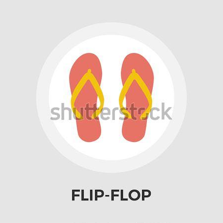 Flip-Flop vector flat icon Stock photo © smoki