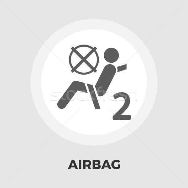 Airbag ikona wektora odizolowany biały Zdjęcia stock © smoki