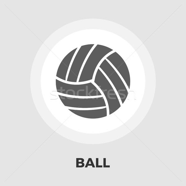 バレーボール アイコン ベクトル 孤立した 白 ストックフォト © smoki