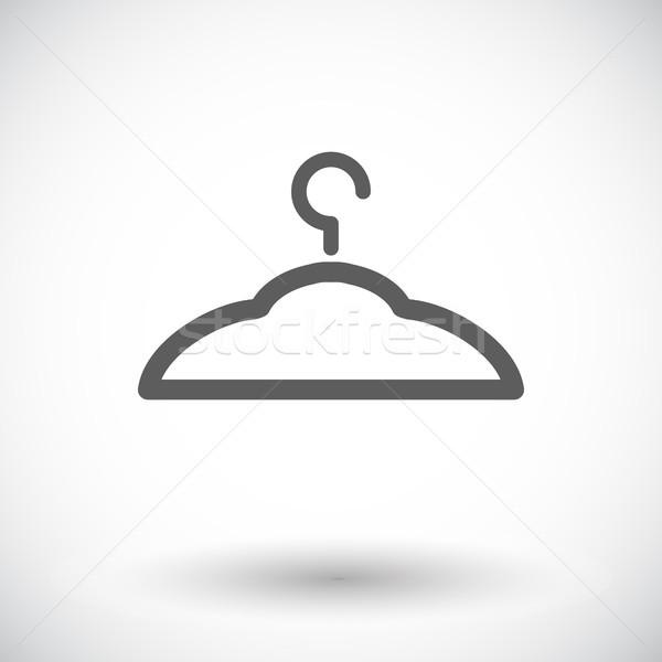 Hanger icon witte ontwerp silhouet kleding Stockfoto © smoki