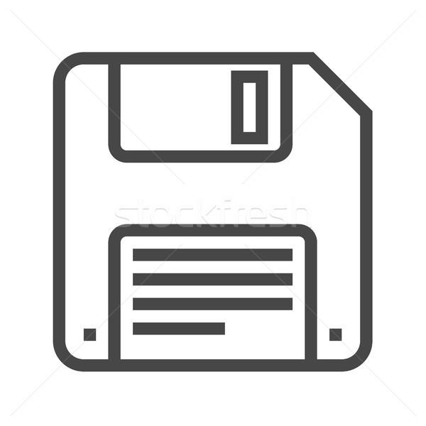 Floppy Disk Line Vector Icon Stock photo © smoki