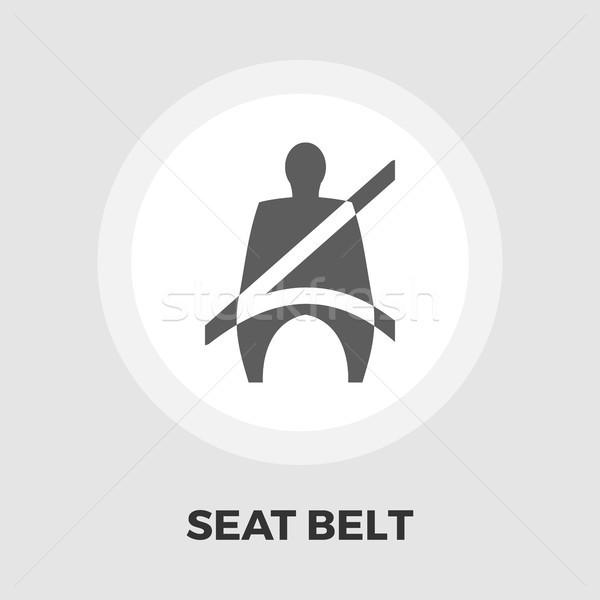Asiento cinturón icono vector aislado blanco Foto stock © smoki