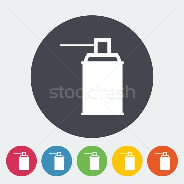 Spray vegyszerek ikon kör festék művészet Stock fotó © smoki