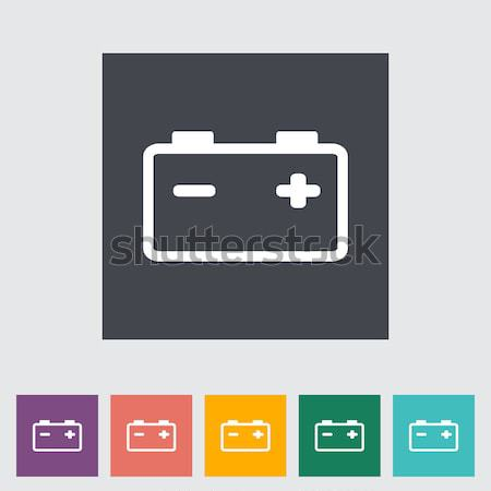 Accumulator Battery Flat Icon Stock photo © smoki