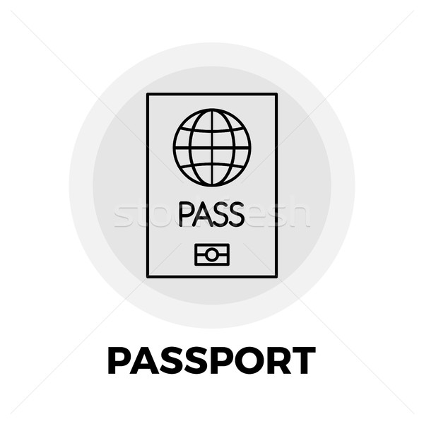 Paspoort lijn icon vector afbeelding object Stockfoto © smoki