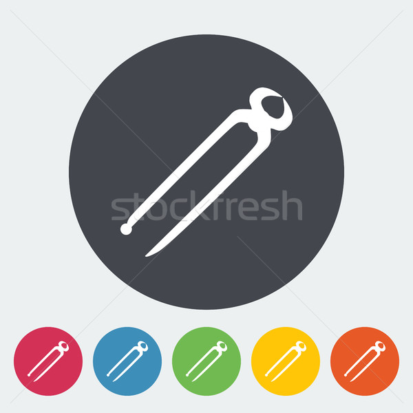 ヴィンテージ アイコン サークル ボタン 金属 業界 ストックフォト © smoki