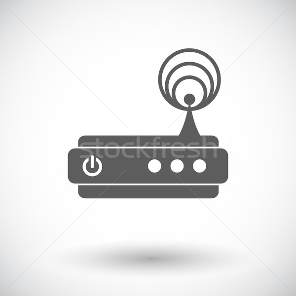 Router single icon. Stock photo © smoki