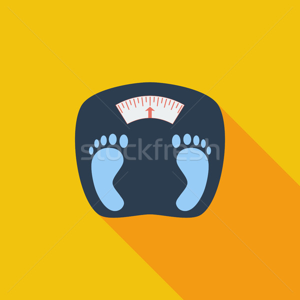 Ikon súlyok vektor hosszú árnyék háló Stock fotó © smoki